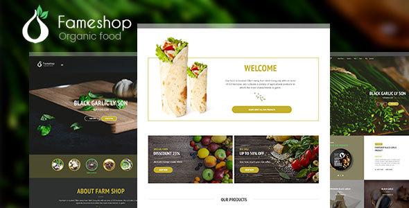 قالب Fameshop - قالب سایت محصولات اورگانیک