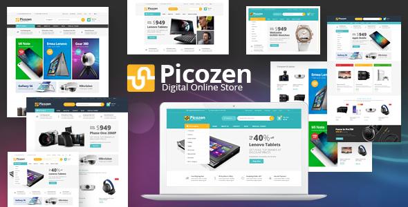 قالب Picozen - قالب الکترونیک برای ووکامرس