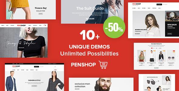 قالب PenShop - قالب فروشگاهی وردپرس چند منظوره