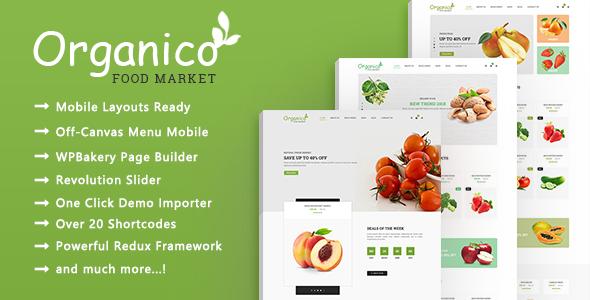 قالب Organico - قالب سایت فروشگاه مواد غذایی