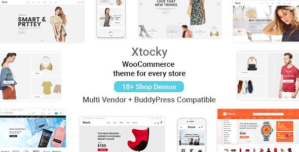 قالب Xtocky - قالب فروشگاهی وردپرس