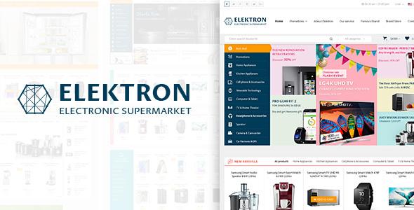قالب Elektron - قالب فروشگاه الکترونیک وردپرس