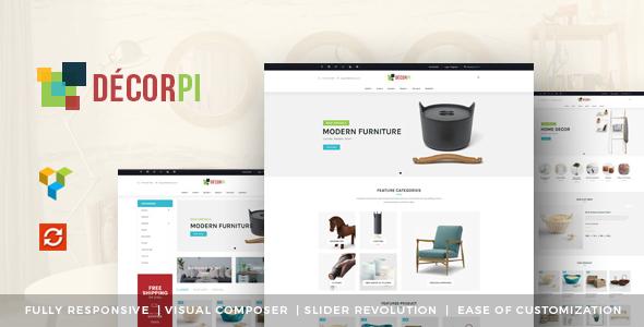 DecorPi - قالب فروشگاهی چند منظوره وردپرس