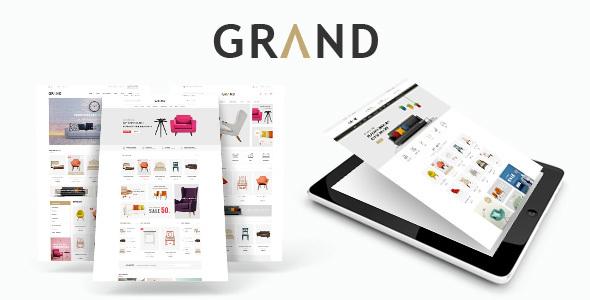 قالب Grand - قالب وردپرس فروشگاه مبلمان