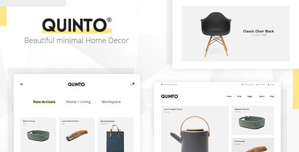 قالب Quinto - قالب زیبای فروشگاهی