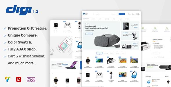 قالب Digi - قالب وردپرس فروشگاه الکترونیکی