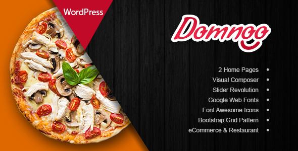 Domnoo - قالب وردپرس پیزا و رستوران