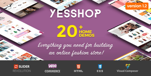 Yesshop - قالب فروشگاهی چند منظوره وردپرس
