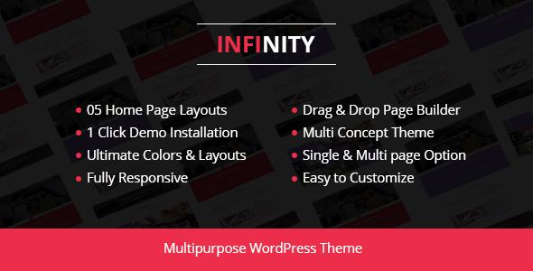 قالب Infinity - قالب وردپرس کسب و کار شرکتی