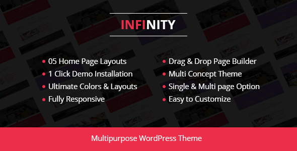 Infinity - قالب وردپرس کسب و کار شرکتی