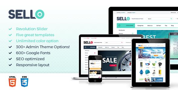 قالب Sello - قالب فروشگاهی حرفه ای وردپرس