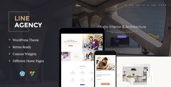 قالب Line Agency - پوسته وردپرس دکوراسیون داخلی و معماری