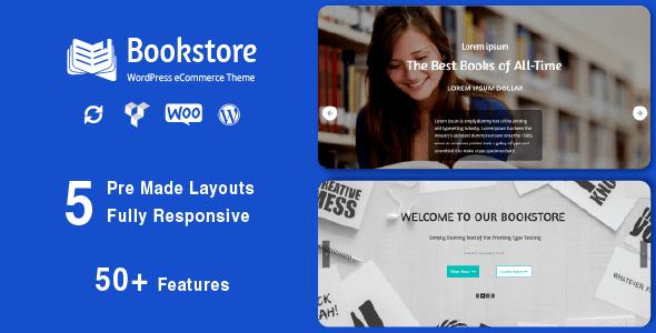 قالب Book Store - قالب ووکامرس ریسپانسیو