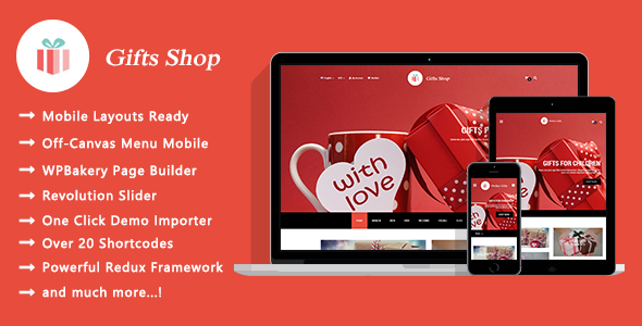 Gifts Shop - قالب وردپرس فروشگاهی