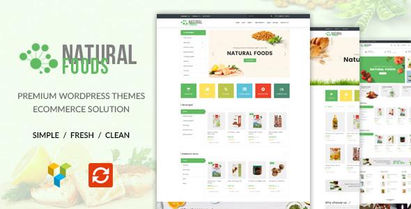 قالب NaturalFood - قالب وردپرس فروشگاهی