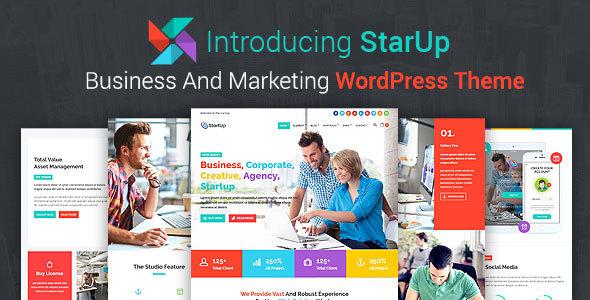 قالب StarUp - قالب وردپرس کسب و کار و بازاریابی
