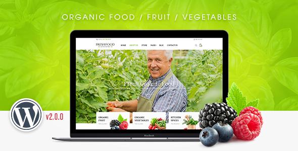 قالب FreshFood - قالب وردپرس فروشگاه چند منظوره
