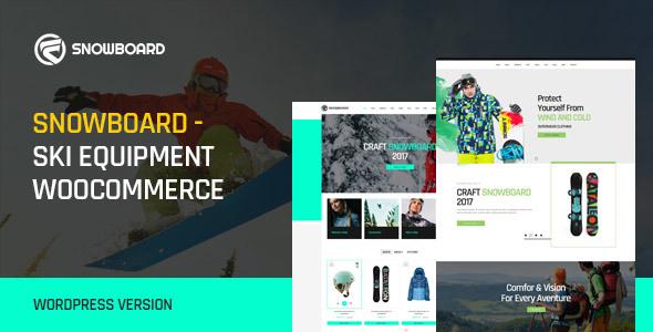 قالب Snowboard - قالب سایت تجهیزات اسکی