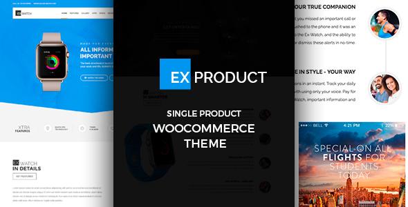 قالب ExProduct - قالب وردپرس تک محصولی