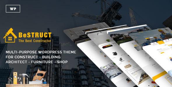 قالب BeStruct - قالب وردپرس ساخت و ساز به همراه فروشگاه
