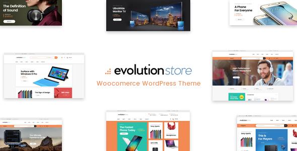 Evolution - قالب وردپرس فروشگاهی