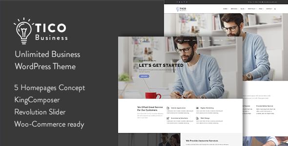 Tico - قالب وردپرس کسب و کار ریسپانسیو