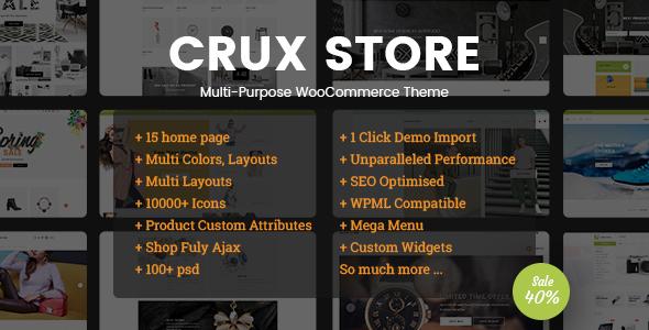 قالب CruxStore - قالب وردپرس ووکامرس چند منظوره