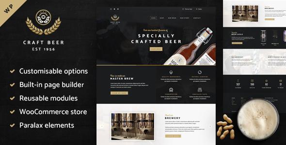 Craft Beer Nation - قالب فروشگاهی وردپرس