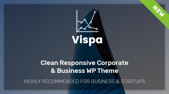 قالب Vispa for Startups - قالب وردپرس کسب و کار ریسپانسیو