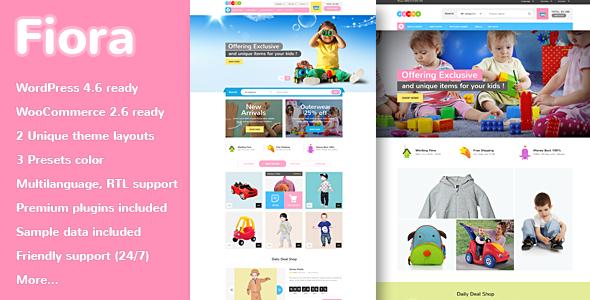 قالب VG Fiora - قالب فروشگاه کودکان وردپرس