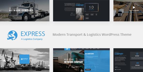 قالب Express - قالب وردپرس شرکت حمل و نقل