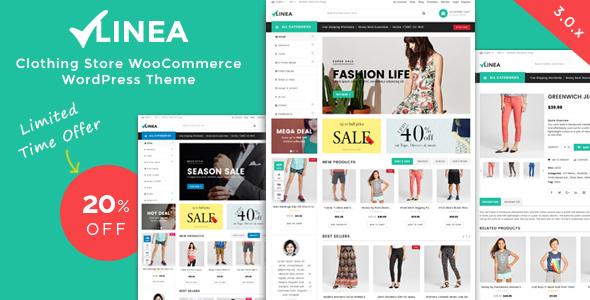 قالب Linea - قالب وردپرس فروشگاه پوشاک