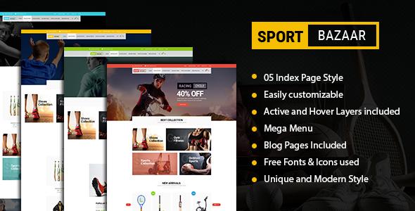 قالب Sport Bazzar - قالب فروشگاهی ورزشی و تناسب اندام