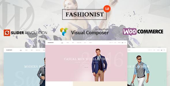 قالب Fashionist - قالب وردپرس ووکامرس