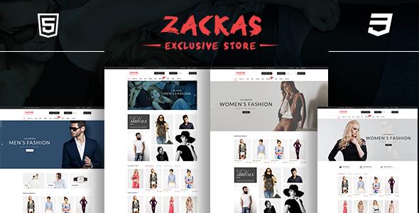 Zackas - قالب وردپرس ووکامرس