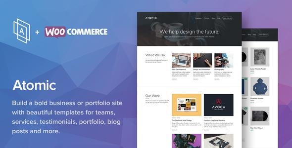 قالب Atomic - قالب وردپرس سایت نمونه کار و تجارت