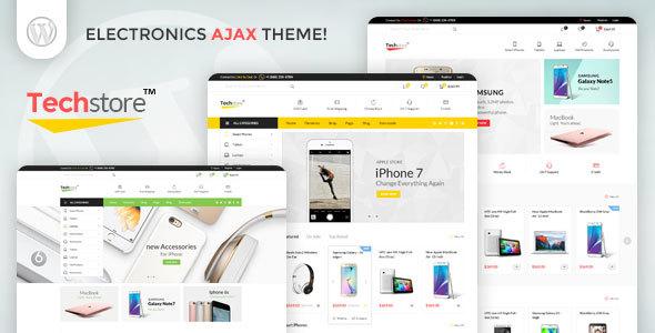 قالب Techstore - قالب وردپرس فروشگاه الکترونیک