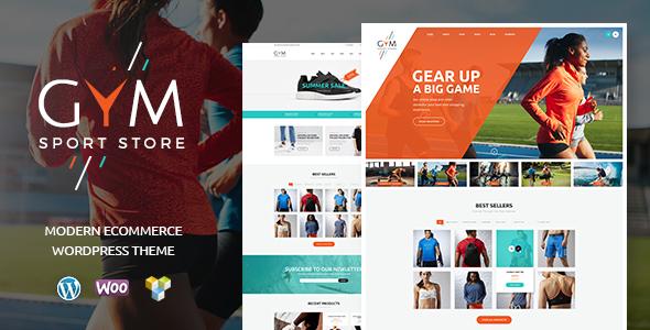 قالب GYM - قالب وردپرس فروشگاه لباس و تجهیزات ورزشی