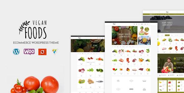 قالب Vegan Food - قالب وردپرس فروشگاه اورگانیک