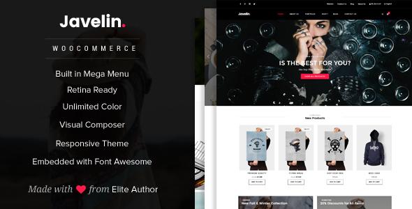 قالب جولین | Javelin - قالب وردپرس فروشگاهی