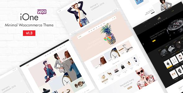 قالب iOne - قالب فروشگاهی مینیمال