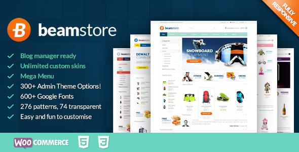 قالب BeamStore - قالب ووکامرس چند منظوره