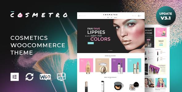 قالب Cosmetro - قالب فروشگاهی لوازم آرایشی المنتور