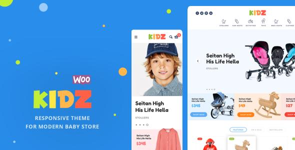 قالب KIDZ - قالب وردپرس فروشگاه کودکان
