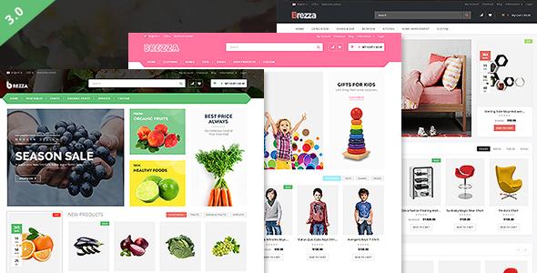 قالب Brezza - قالب وردپرس فروشگاه میوه