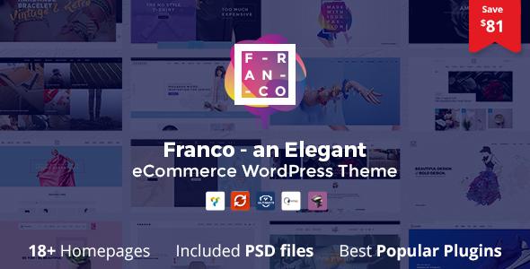 قالب Franco - قالب وردپرس فروشگاهی زیبا