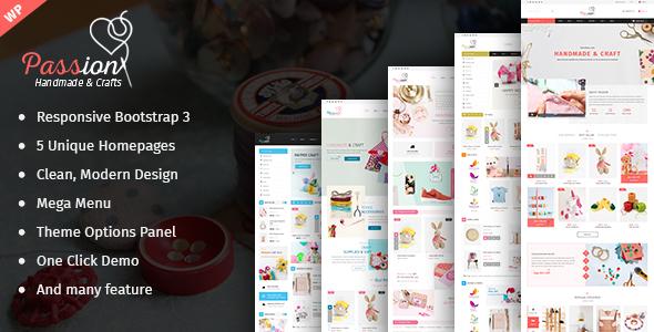 قالب Passion - قالب فروشگاهی محصولات دست ساز