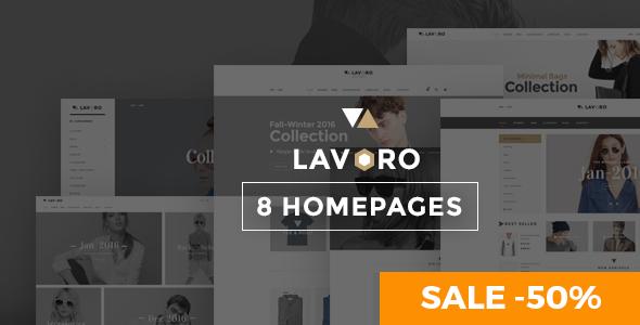 قالب Lavoro - قالب وردپرس فروشگاه مد