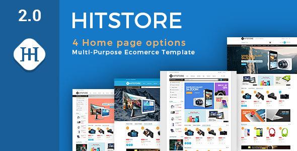 قالب Hitstore - قالب فروشگاهی لوازم الکترونیکی