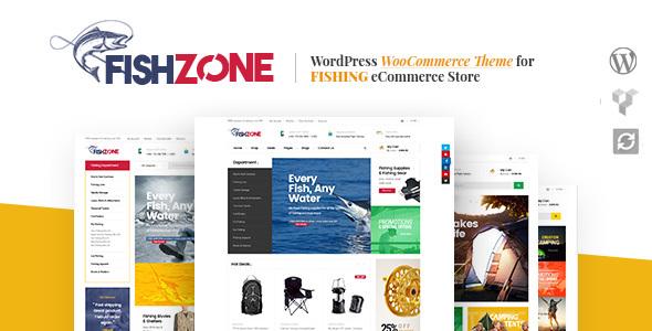 قالب Fishzone - قالب وردپرس ووکامرس